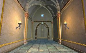 Guild hall random hallway - note the lack of brown. Good lighting, too.