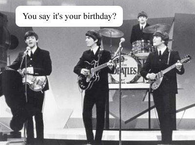 Happy Birthday Song Beatles – Beatles Birthday Cards