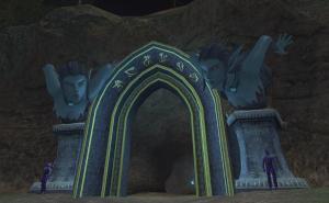 Entrance to Neriak. Fangs for visiting!