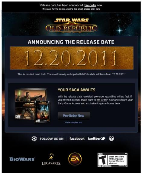 swtor release date