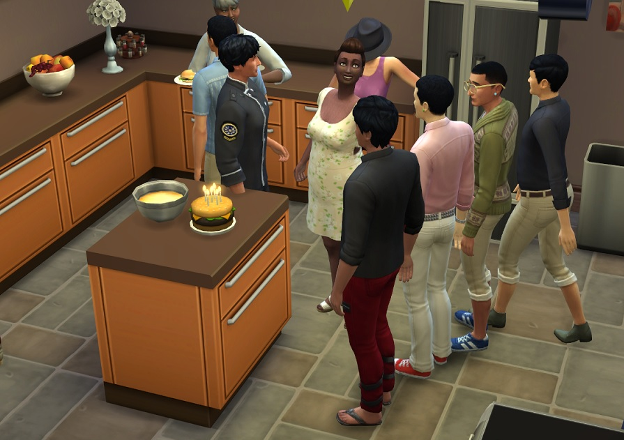 Sims  How To Make Caterer Make Cake
