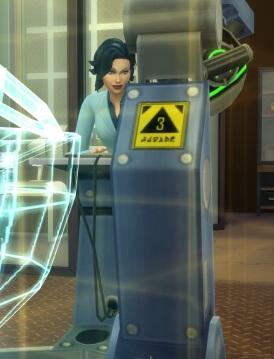 Evil scientist look
